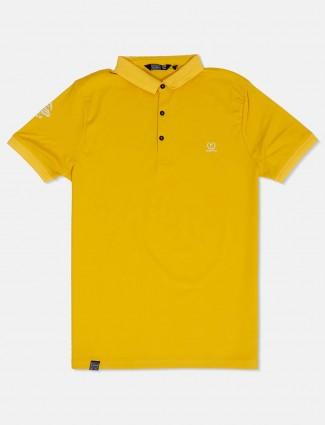 Freeze yellow cotton t-shirt
