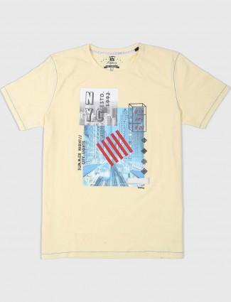 Fritzberg light yellow slim fit t-shirt