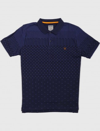 Fritzberg navy cotton fabric t-shirt