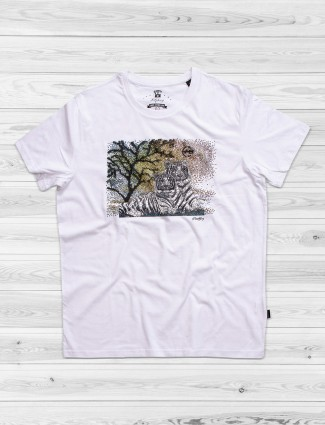 Fritzberg noble white color slim fit t-shirt