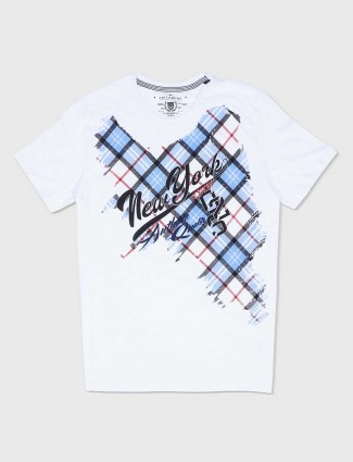 Fritzberg printed white cotton t-shirt