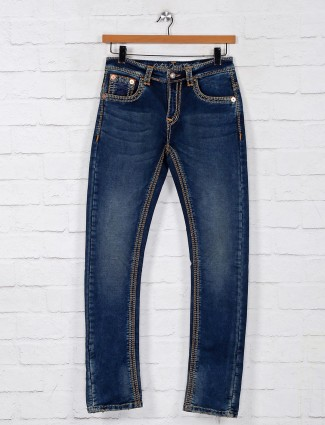 Gesture blue washed denim jeans
