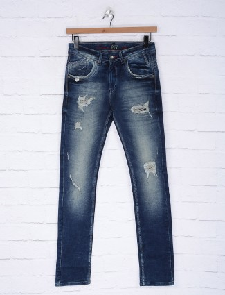 Gesture casual wear washed navy jeans