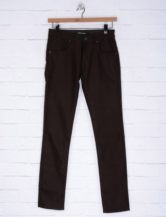 Gesture coffee brown hued jeans