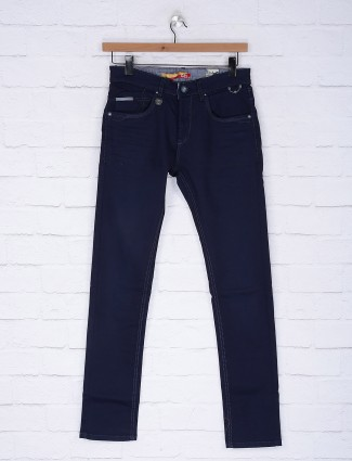 Gesture denim navy colored slim fit jeans