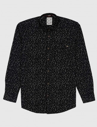 Gianti casual black printed shirt