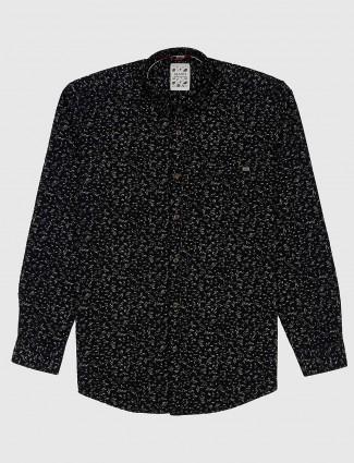 Gianti casual black printed shirt