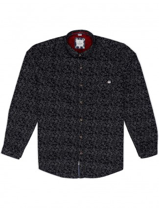 Gianti presented black printed shirt