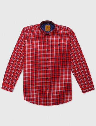 Gianti red checks shirt