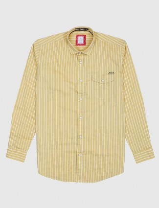 Gianti yellow hue stripe pattern shirt