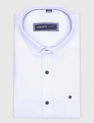 Ginneti ivory color white cotton shirt