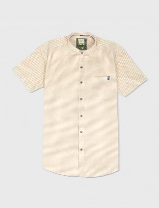 Ginneti yellow and white checks shirt
