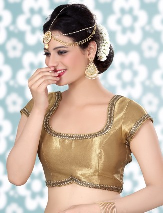 Gold shimmer designer ready made blouse