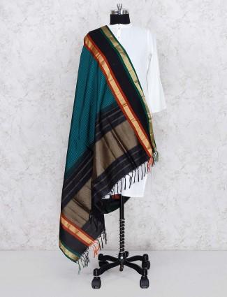 Green color gorgeous silk dupatta