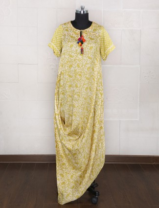 Green cotton silk festive kurti