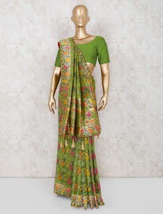 Green designer patola silk saree
