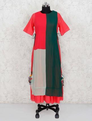 Green hue festive georgette punjabi salwar suit
