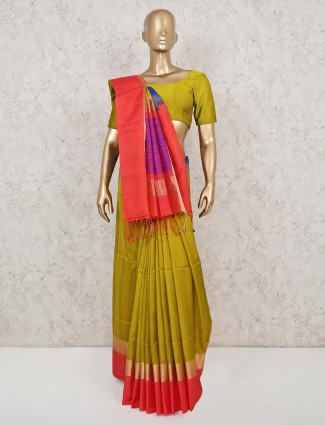 Green south pure silk saree for wedding days