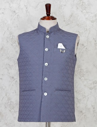 Grey cotton party waistcoat