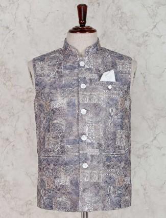 Grey cotton silk waistcoat