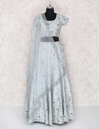 Grey designer party wear lehenga choli
