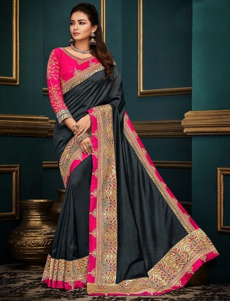 Grey hue cotton silk lovely saree