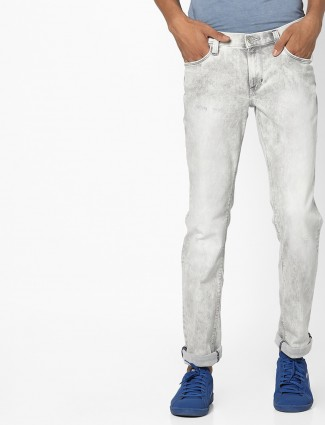 Grey lee solid casual wear denim jeans