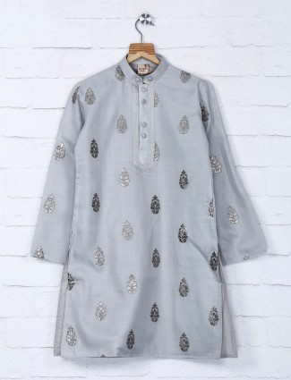 Grey party occasion designer kurta suit