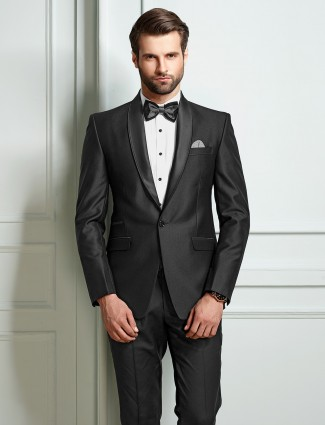 Grey party wear mens coat suit