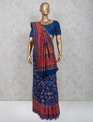 Handloom cotton wedding function saree