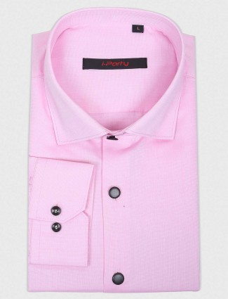 I Party pink colored cotton fabric shirt