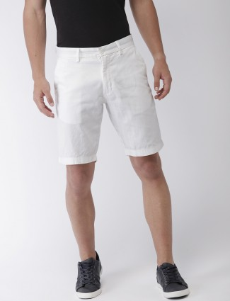 Indian Terrain casual white hue shorts