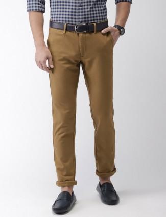 Indian Terrain cotton fabric khaki trouser
