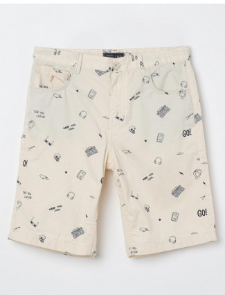 Indian Terrain cream printed short