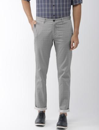 Indian Terrain grey hue checks trouser