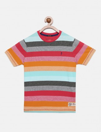 Indian Terrain multicolor stripe t-shirt