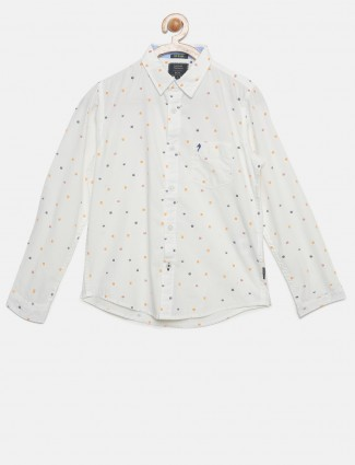 Indian Terrain off white cotton shirt