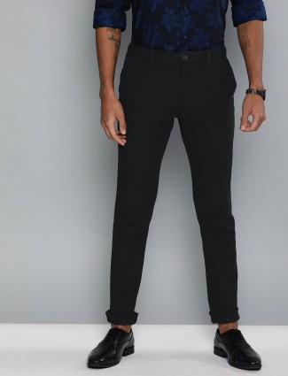 Indian Terrain solid cotton black trouser