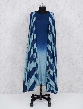 Indo western blue color kurti