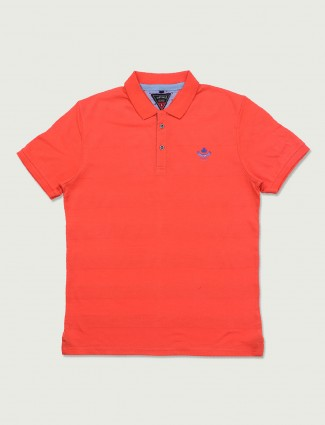Instinto orange stripe pattern t-shirt