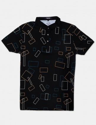 Instinto presented black printed t-shirt