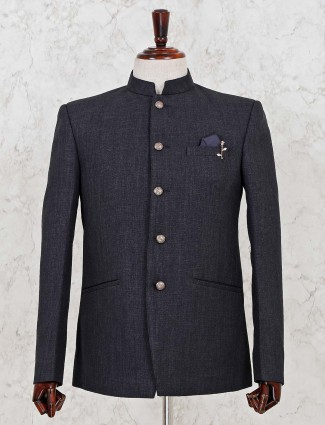 Jodhpuri dark grey blazer for mens