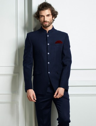 Jodhpuri suit in blue hue for mens