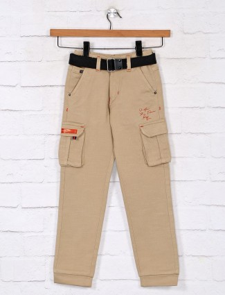 Khaki casual cotton boys cargo