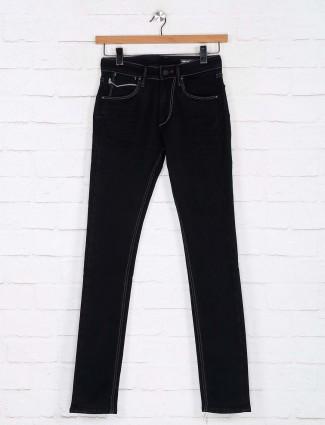 Killer black solid effect skinny fit jeans