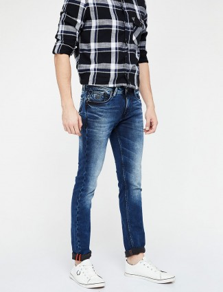 Killer blue color mens denim