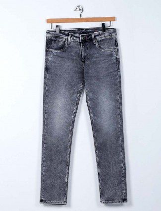 Killer light grey washed skinny fit jeans
