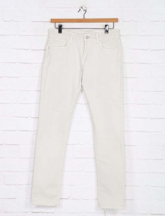 Killer off white solid slim fit jeans