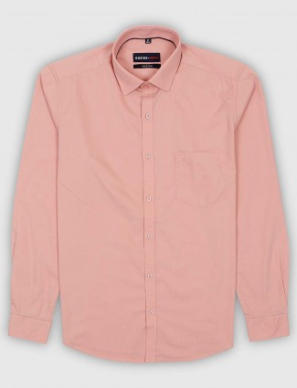 Killer peach curve hem solid shirt