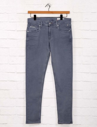 Killer solid grey denim skinny fit jeans